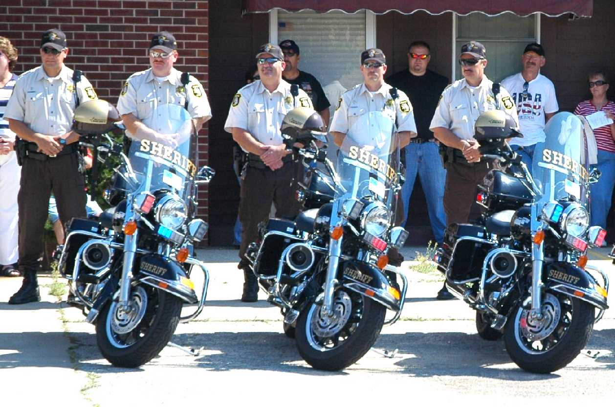 Motor Unit Officers at Pre-Ride Ceremony
