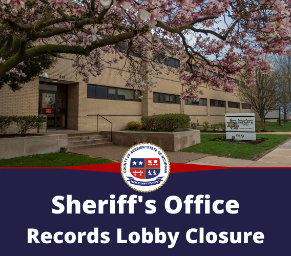 Sheriff's Office Records Department Lobby Closing