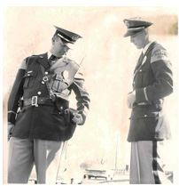 "Sheriff Forrest ""Nick"" Jewell on left in 1963"
