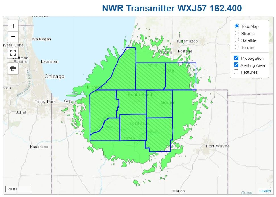 South Bend NOAA Weather Radio Opens in new window